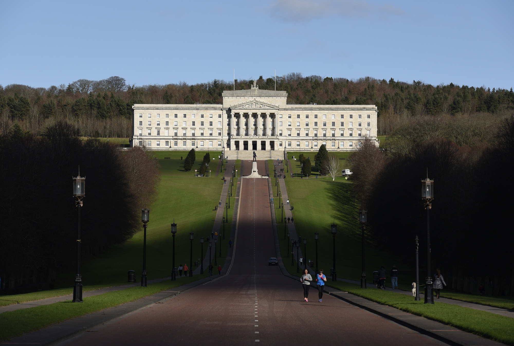 Running and walking on the Stormont Estate, Belfast (Picture by Michael Cooper)
