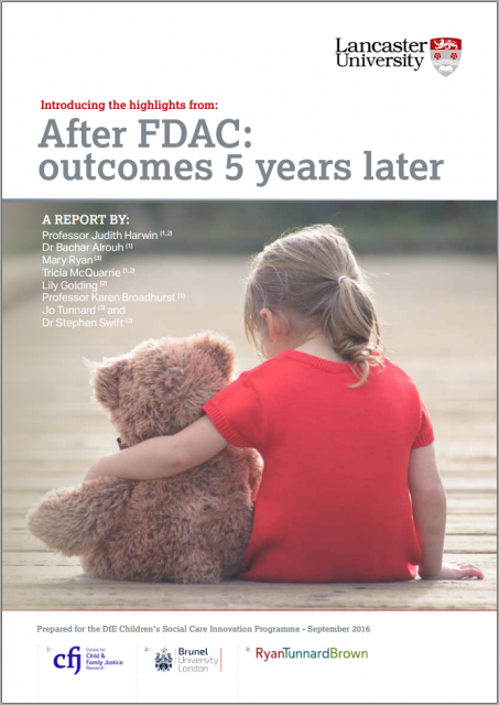 After FDAC: A recent report on the outcomes of family drug and alcohol courts in England