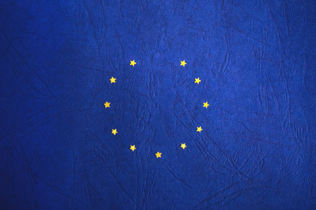 A set of stars in the shape of the Flag of Europe, with one missing