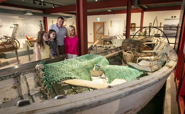 Image of the 'Harvests from Land and Sea' exhibition at Down County Museum (image used courtesy of Down County Museum)