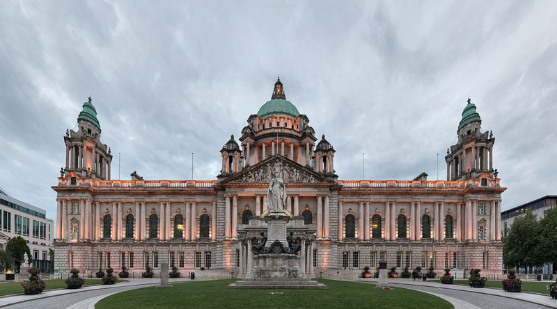A photograph of Belfast City Hall
