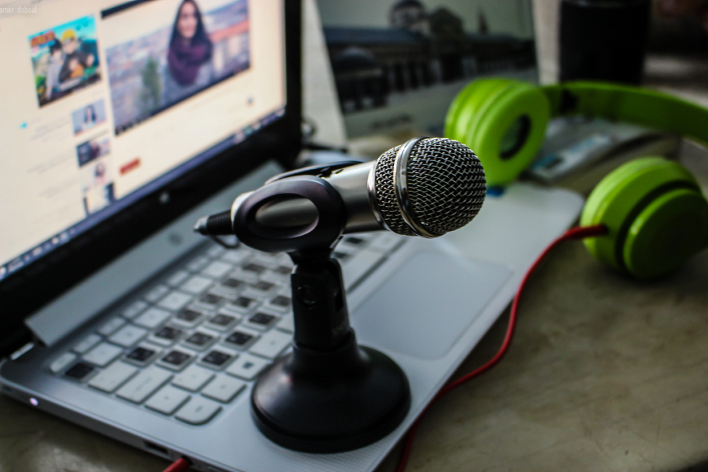 An image showing equipment for podcasting