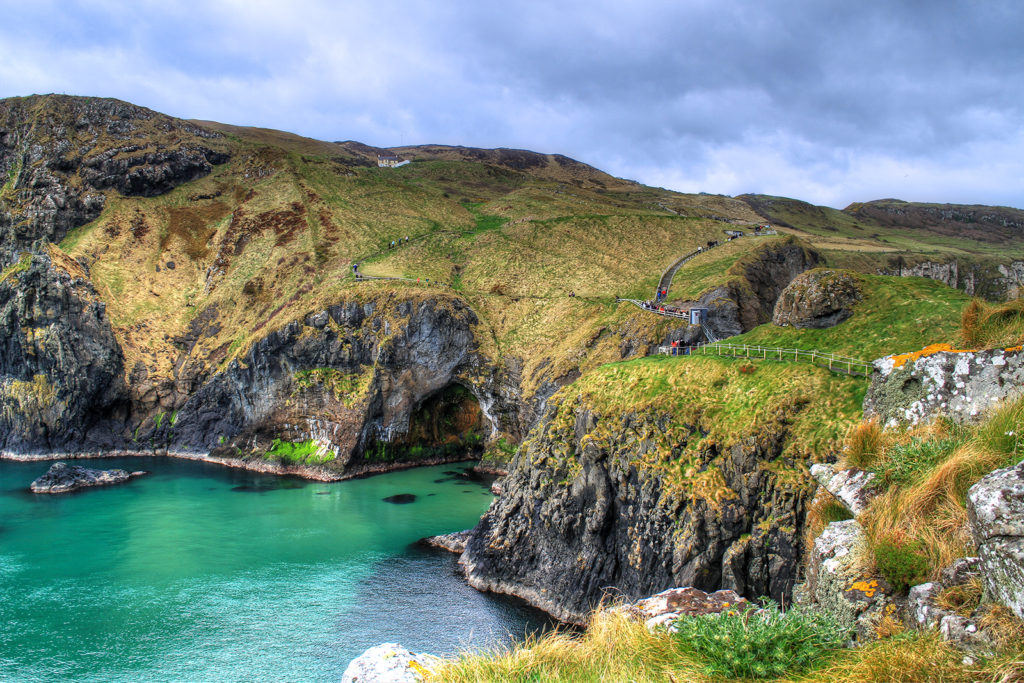 An image showing Carrick-a-Rede rope bridge in County Antrim
